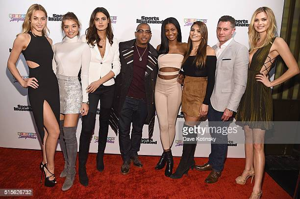 Sports Illustrated Swimsuit 2016 Model Search Contestants Caroline Kelley rookie Bo Krsmanovic Daniela Lopez Ebonee Davis Kyra Santoro and Megan...