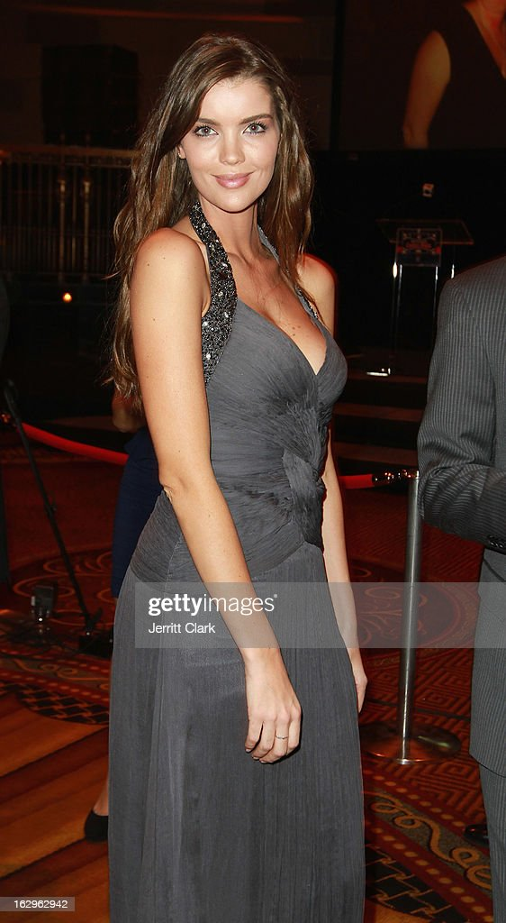 Sports Illustrated swimsuit mode Natasha Barnard wearing Carlos Miele attends the 2013 New York Rangers Casino Night at Gotham Hall on March 1, 2013 in New York City.
