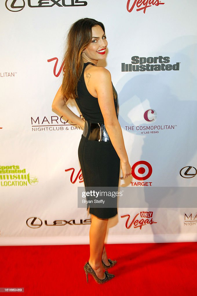 Sports Illustrated swimsuit model <a gi-track='captionPersonalityLinkClicked' href=/galleries/search?phrase=Alyssa+Miller&family=editorial&specificpeople=5364734 ng-click='$event.stopPropagation()'>Alyssa Miller</a> attends SI Swimsuit on Location at the Marquee Nightclub at The Cosmopolitan of Las Vegas on February 13, 2013 in Las Vegas, Nevada.