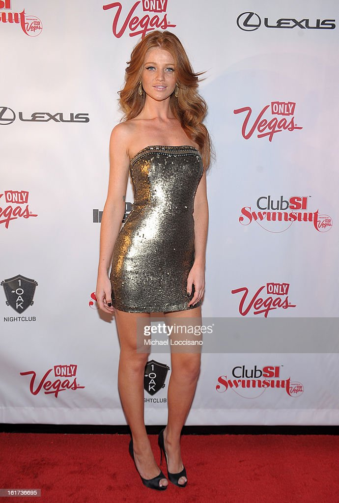 Sports Illustrated swimsuit model Cintia Dicker attends Club SI Swimsuit at 1 OAK Nightclub at The Mirage Hotel & Casino on February 14, 2013 in Las Vegas, Nevada.