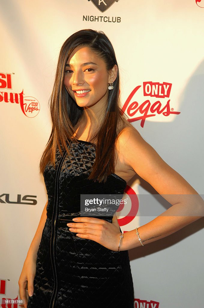 Sports Illustrated swimsuit model Jessica Gomes arrives at the 'Club SI Swimsuit' hosted by Sports Illustrated and The LVCVA at 1 OAK Las Vegas at The Mirage Hotel & Casino on February 14, 2013 in Las Vegas, Nevada.