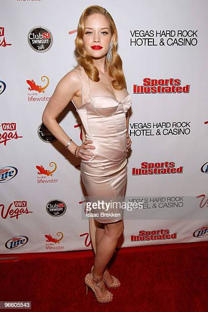 Sports Illustrated swimsuit model Julie Ordon arrives at the Sports Illustrated Swimsuit 24/7 Club SI Swimsuit at Vanity Nightclub At The Hard Rock...