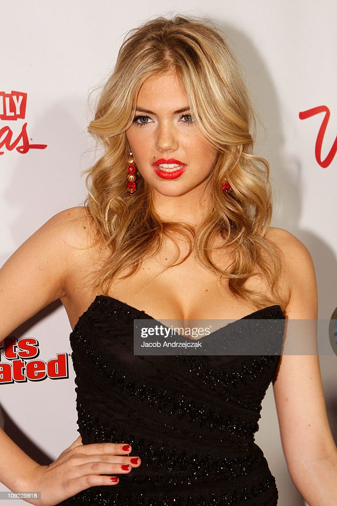 Sports Illustrated swimsuit model Kate Upton arrives at SI Swimsuit On Location hosted by LAX Nightclub at LAX Nightclub on February 16, 2011 in Las Vegas, Nevada.