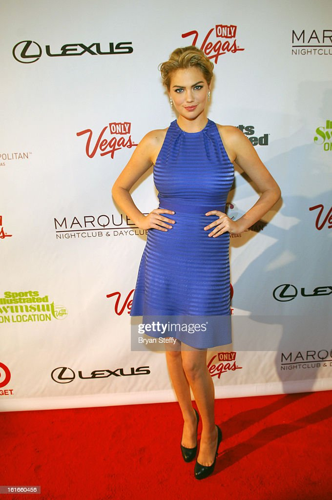 Sports Illustrated swimsuit model Kate Upton attends SI Swimsuit on Location at the Marquee Nightclub at The Cosmopolitan of Las Vegas on February 13, 2013 in Las Vegas, Nevada.
