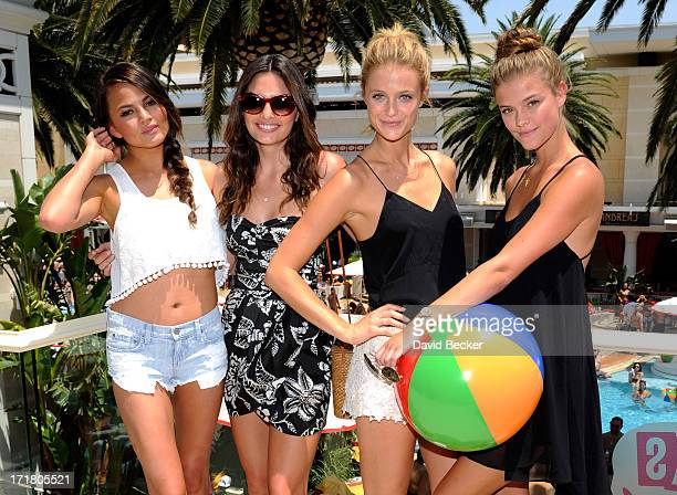 Sports Illustrated swimsuit models Chrissy Teigen Alyssa Miller Kate Bock Nina Agdal and Chrissy Teigen attend the 'Summer of Swim' celebration at...