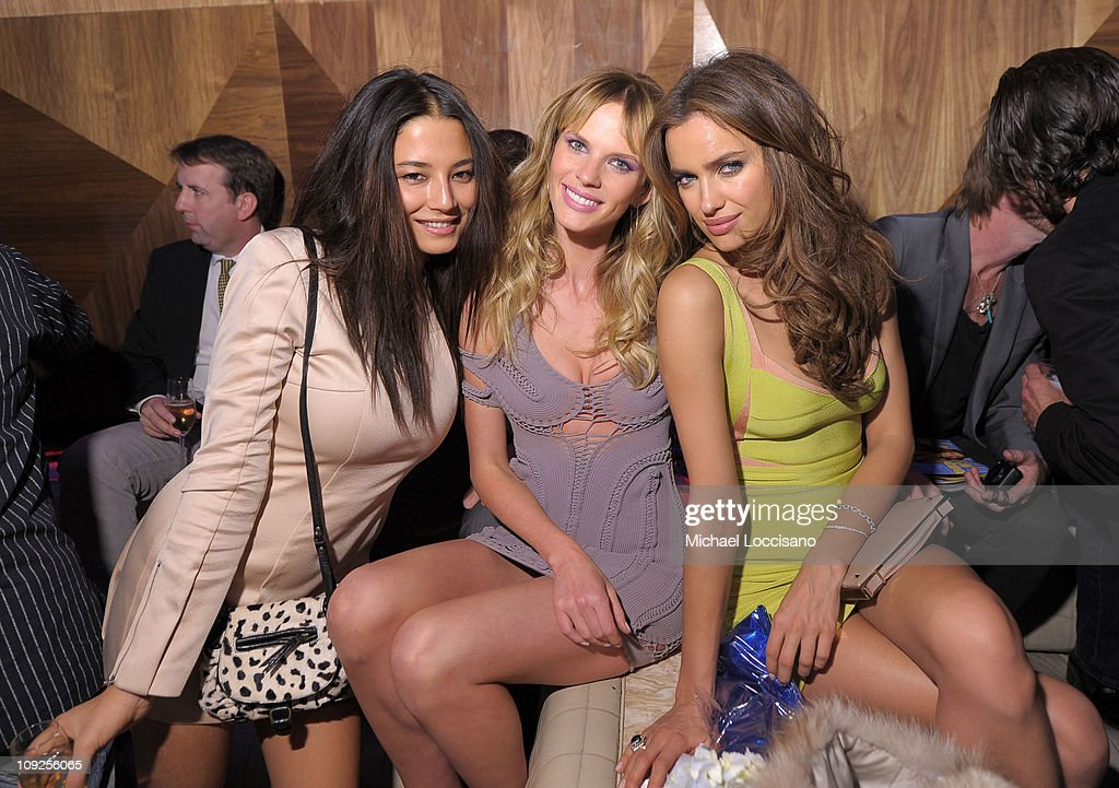 Sports Illustrated swimsuit models <a gi-track='captionPersonalityLinkClicked' href=/galleries/search?phrase=Jessica+Gomes&family=editorial&specificpeople=4319063 ng-click='$event.stopPropagation()'>Jessica Gomes</a>, Anne V and Irina Shayk attend Club SI Swimsuit hosted by Vanity at Vanity Nightclub at The Hard Rock Hotel and Casino on February 17, 2011 in Las Vegas, Nevada.
