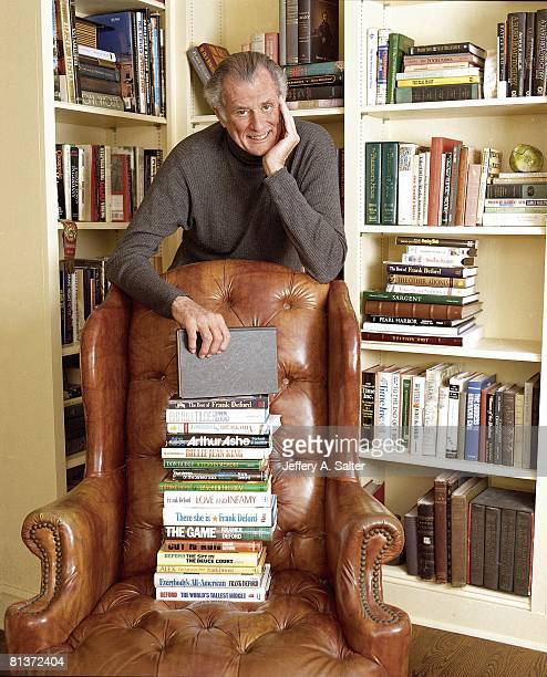 Sports Illustrated writer Frank Deford author of 14 sports books