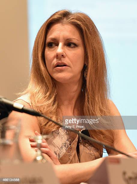 Sports journalist Bonnie Bernstein speaks onstage at 'The Evolution of Audio in the 21st Century' during the 2015 SXSW Music Film Interactive...