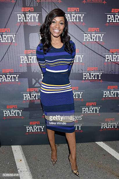 Sports journalist Cari Champion attends ESPN The Party on February 5 2016 in San Francisco California