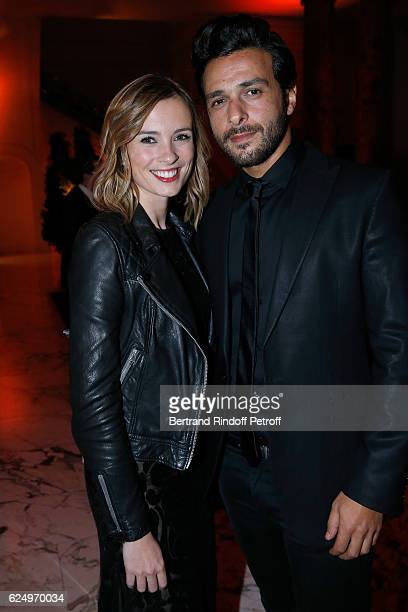 Sports journalist Isabelle Ithurburu and singer Maxime Nucci attend the 'Diner des amis de Care' for the 70th anniversary of the Association Held at...