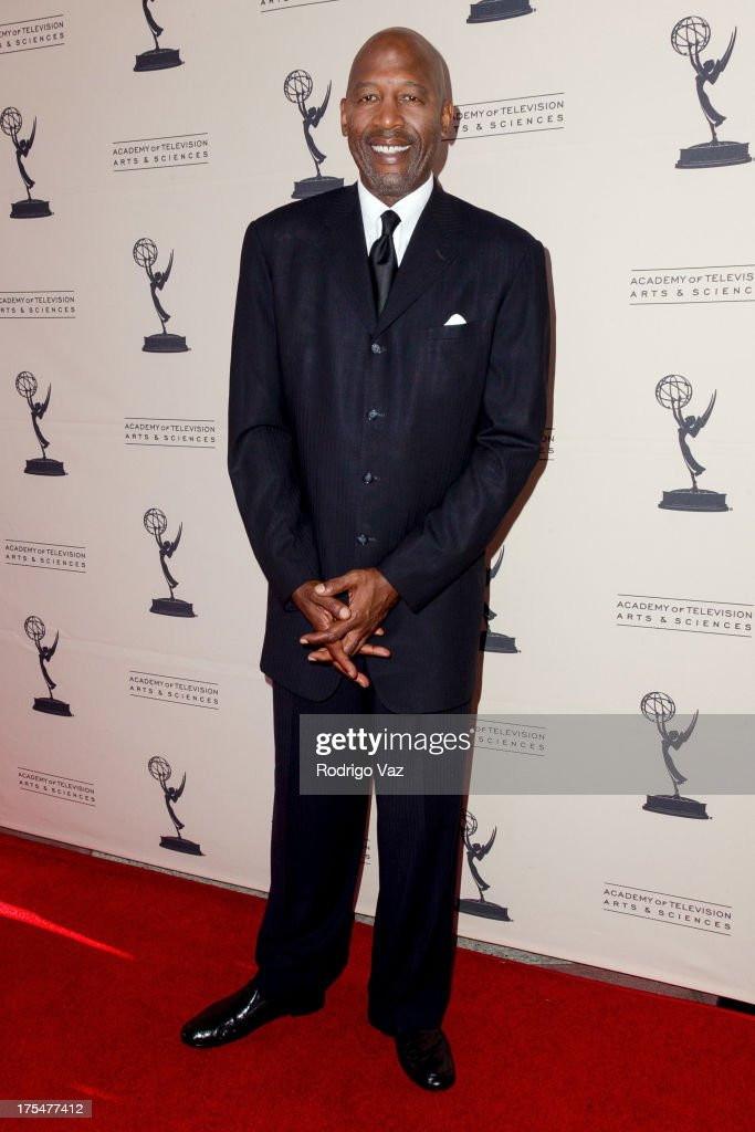 Sports journalist James Worthy arrives at the Academy of Television Arts & Sciences 65th Los Angeles Area Emmy Awards at Leonard H. Goldenson Theatre on August 3, 2013 in North Hollywood, California.