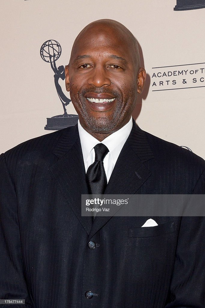 Sports journalist <a gi-track='captionPersonalityLinkClicked' href=/galleries/search?phrase=James+Worthy&family=editorial&specificpeople=212863 ng-click='$event.stopPropagation()'>James Worthy</a> arrives at the Academy of Television Arts & Sciences 65th Los Angeles Area Emmy Awards at Leonard H. Goldenson Theatre on August 3, 2013 in North Hollywood, California.