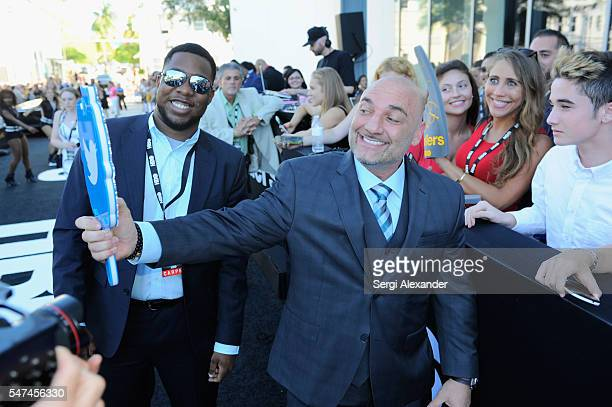 Sports Journalist Jay Glazer attends the HBO Ballers Season 2 Red Carpet Premiere and Reception on July 14 2016 at New World Symphony in Miami Beach...