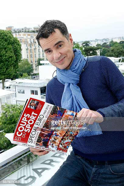 Sports Journalist Laurent Luyat presents his Book 'Les coups du Sport Special Euro' at France Television french chanel studio during Day Thirteen of...