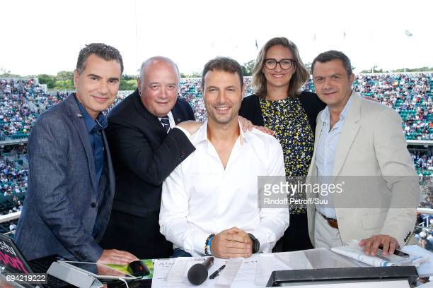 Sports Journalist Laurent Luyat President of French Tennis Federation Bernard Giudicelli handball player Jerome Fernandez Consultant of 'France...