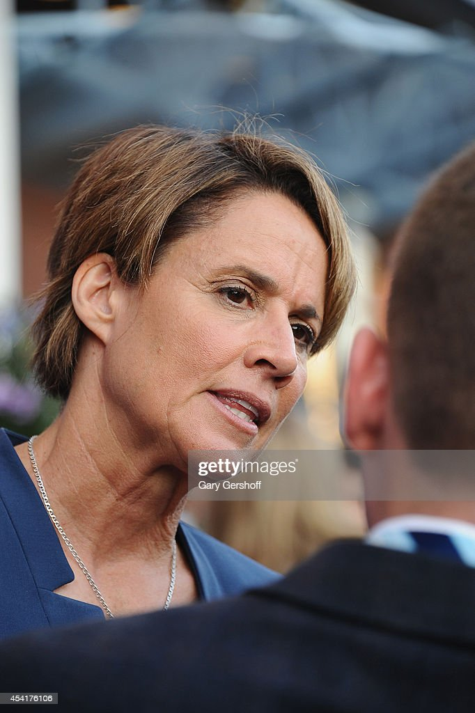 Sports journalist Mary Carillo attends the 14th Annual USTA Opening Night Gala at USTA Billie Jean King National Tennis Center on August 25 2014 in...