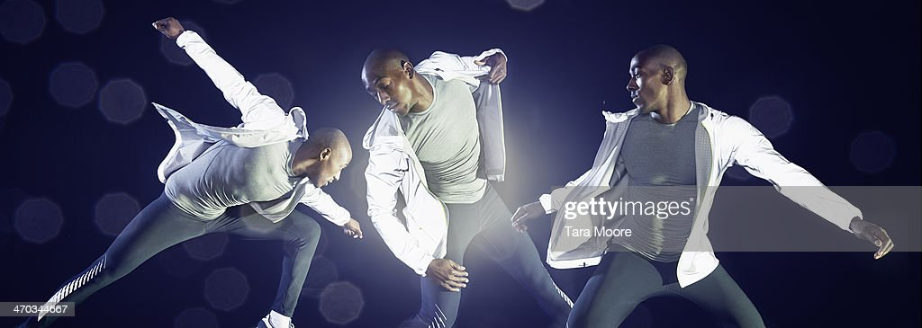 sports man in various dynamic poses : Stock Photo