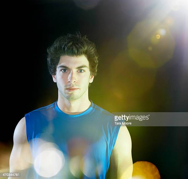 sports man with light flare
