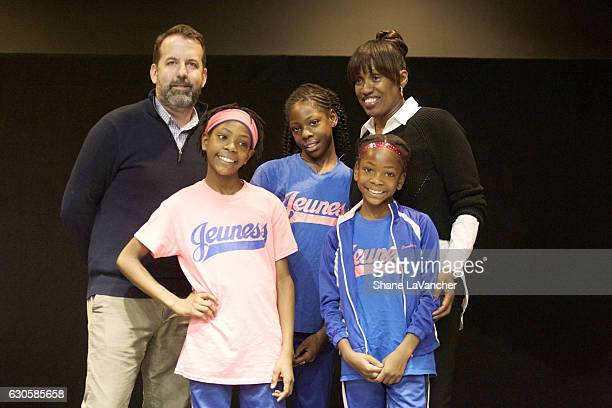 SI SportsKids of the Year Sports Illustrated for Kids editor Mark Bechtel Sportskid honorees and sisters Rainn 10 years old Tai and Brooke Sheppard...