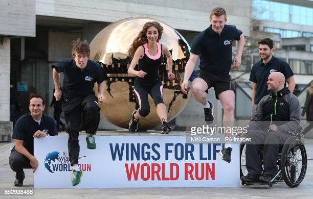 Sports Minister Leo Varadkar Con Doherty Daniella Moyles Joe Canning Bernard Brogan and Mark Pollock at the launch of Wings for Life World Run 2014...