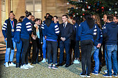 FRA: Reception at the Elysee in honor of the French Women's Handball team European Champion