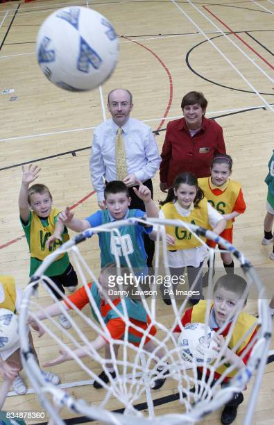 Sports minister Stewart Maxwell and and Alison Magee Chair of Big Lottery Fund Scotland Committee during the launch of 2014 Communities a fund set up...