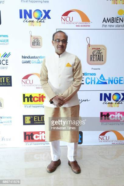 Sports Minister Vijay Goel during the Hindustan Times Game Changer Awards 2017 at Hotel Oberoi on May 24 2017 in Gurgaon India