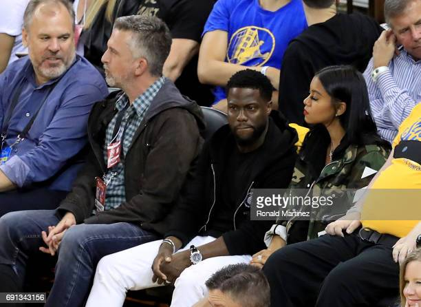 Sports personality Bill Simmons and actor Kevin Hart attend Game 1 of the 2017 NBA Finals at ORACLE Arena on June 1 2017 in Oakland California NOTE...