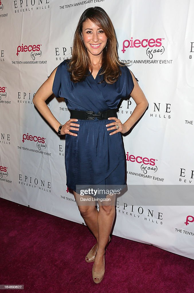 TV sports reporter Julie Alexandria attends the 'Pieces (of Ass)' opening night Los Angeles performance at The Fonda Theatre on March 28, 2013 in Los Angeles, California.