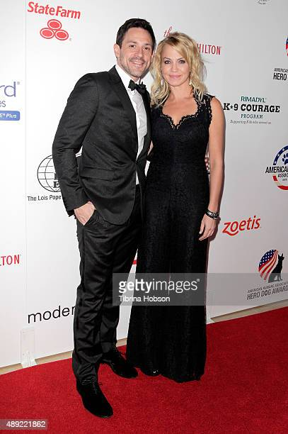 Sports reporter Michelle Beadle and guest attend the American Humane Association's 5th Annual Hero Dog Awards 2015 at The Beverly Hilton Hotel on...