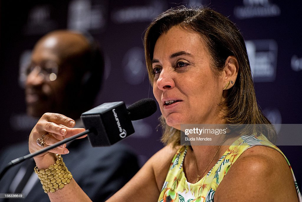 Sports Secretary of Rio de Janeiro Marcia Lins during a press conference to announce the Nominees for the 2012 Laureus World Sports Awards at Windsor Atlantica Hotel on December 13, 2012 in Rio De Janeiro, Brazil. The Laureus World Sports Awards is recognised as the premier honours event in the international sporting calendar as stars of the sporting world come together to salute the finest sportsmen and sportswomen of the year.