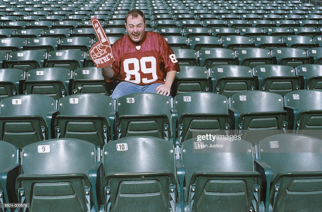Sports Spectator in Stadium : Stock Photo