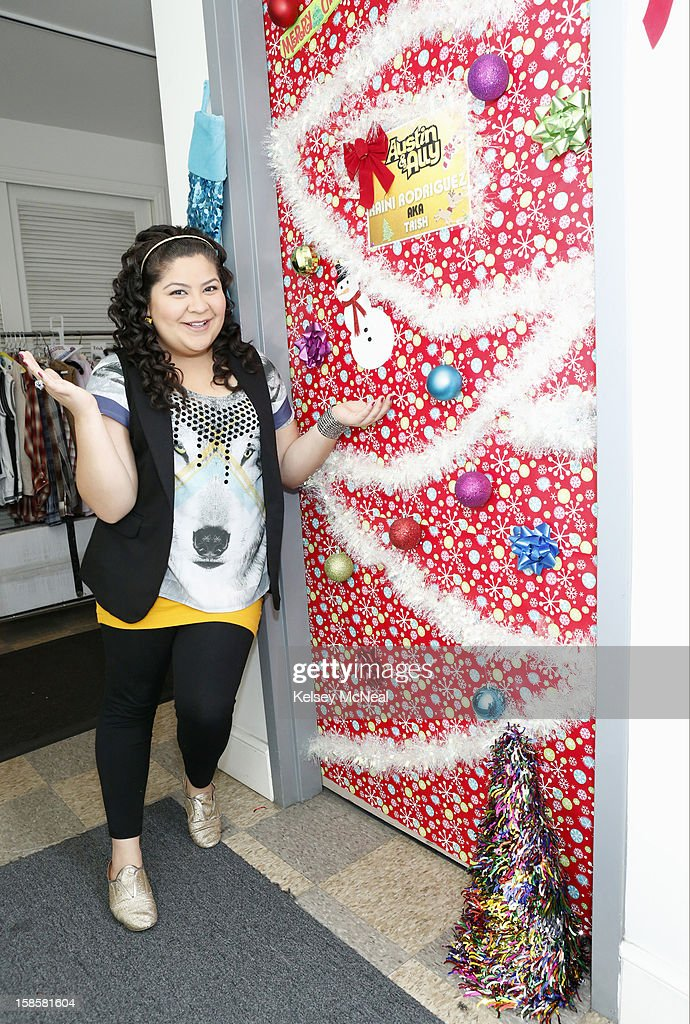 AUSTIN & ALLY - 'Sports & Sprains' - Stars from hit Disney Channel series including 'Jessie,' 'Austin & Ally,' 'Shake It Up,' Dog With A Blog' and 'A.N.T. Farm' get in the holiday spirit as they give a behind-the-scenes look at their dressing room doors decorated for the holiday season. RODRIGUEZ