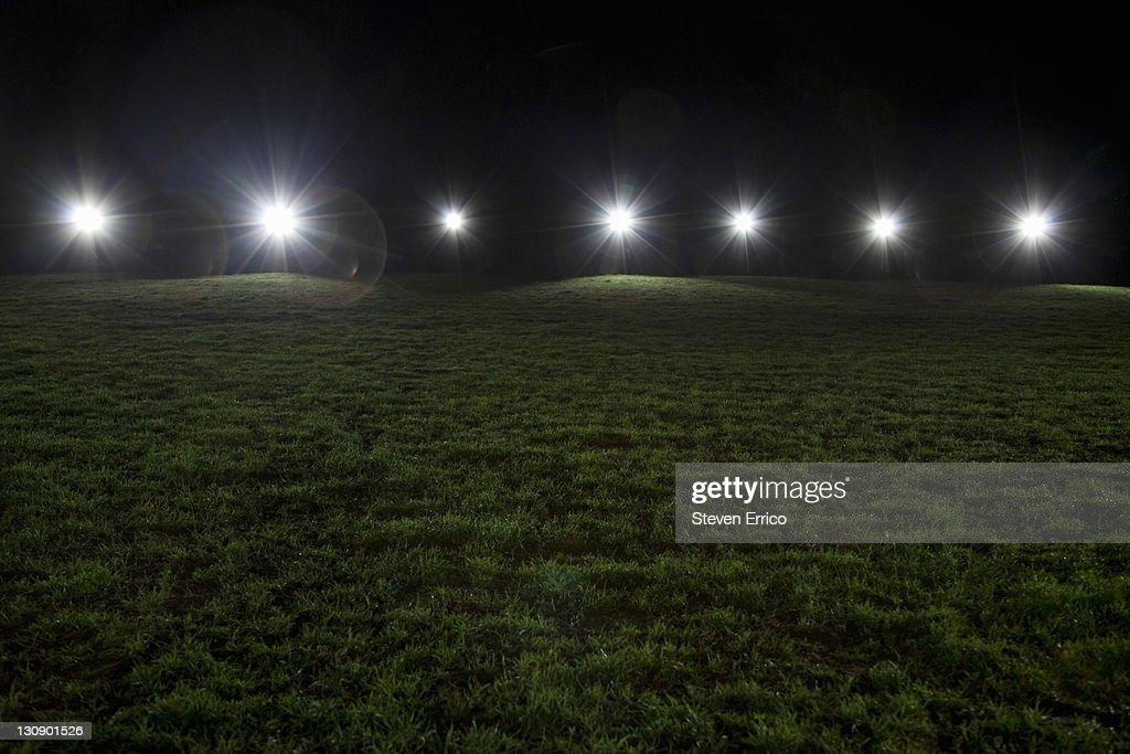 Sports stadium at night : Stock Photo