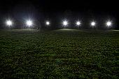 Sports stadium at night