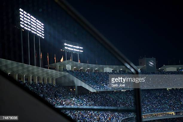 Sports stadium at night