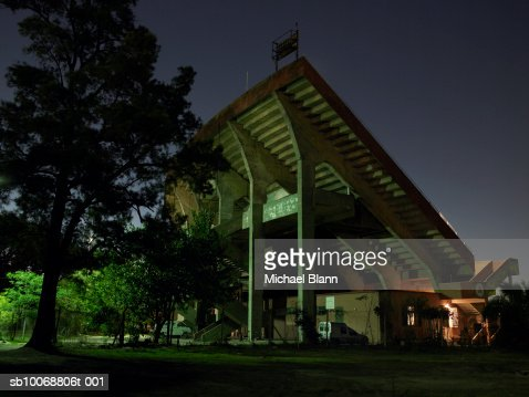 Sports venue at night : Stock Photo