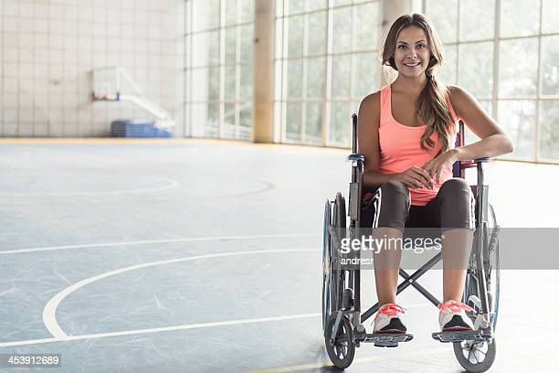 Sports woman in a wheelchair