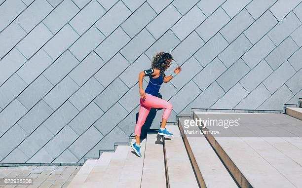 Sports woman jogging