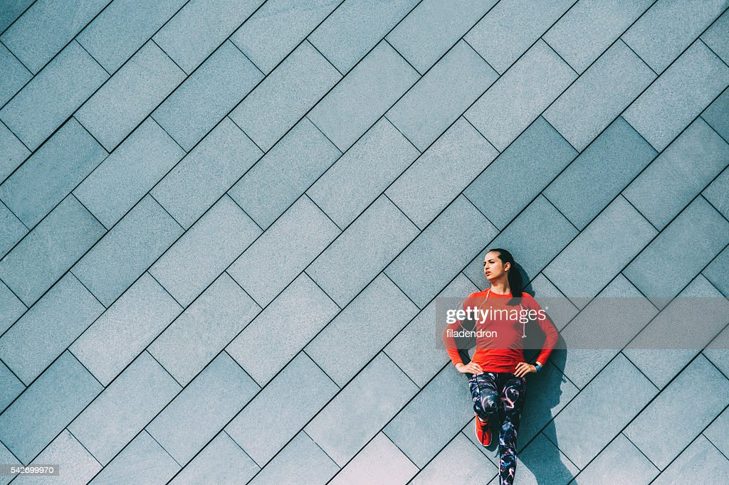 Sports Woman Resting : Stock Photo