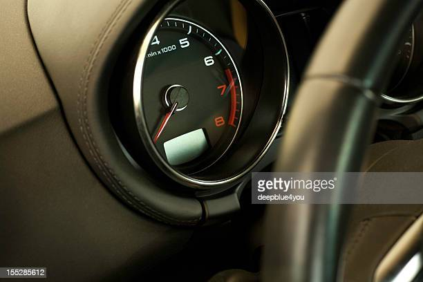 Sportscar tachometer/ close up