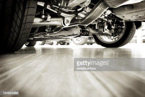 Sportscar technik from below