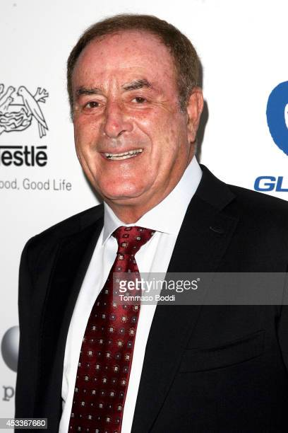 Sportscaster Al Michaels attends the 14th annual Harold Carole Pump Foundation Gala held at the Hyatt Regency Century Plaza on August 8 2014 in...