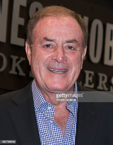 Sportscaster Al Michaels signs copies of his new book 'You Can't Make This Up' at Barnes Noble bookstore at The Grove on February 4 2015 in Los...