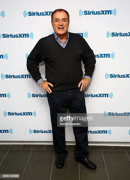 TV Sportscaster Al Michaels visits the SiriusXM Studios on November 19 2014 in New York City