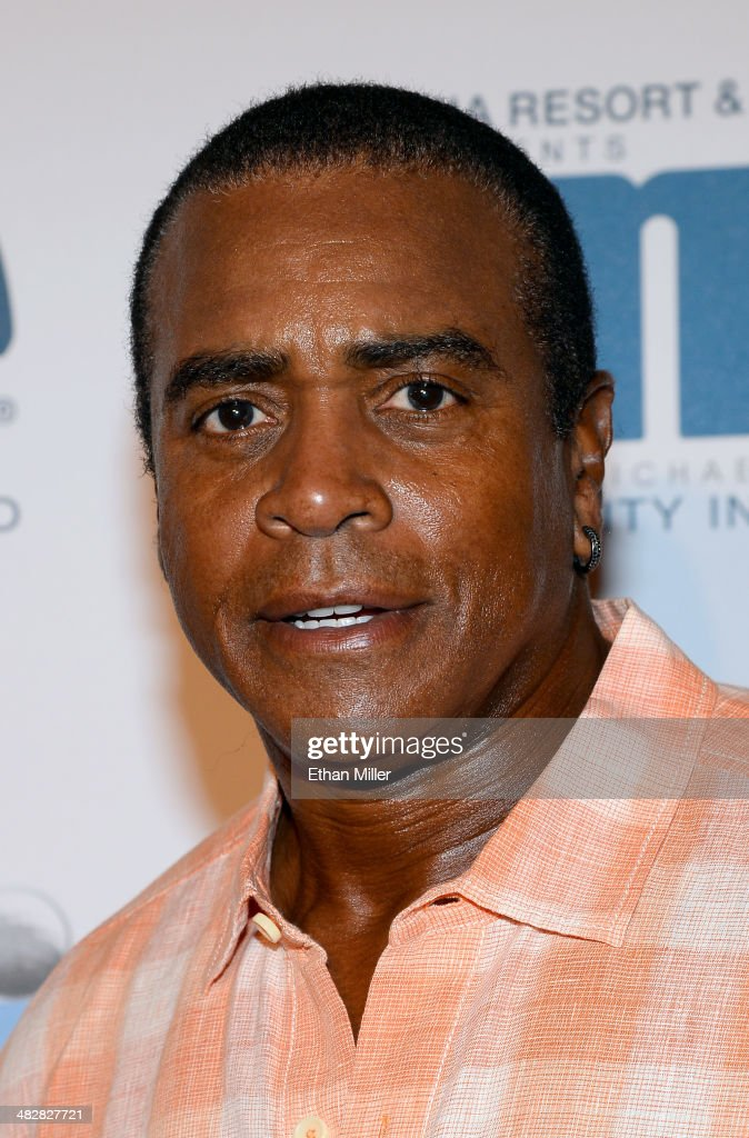 Sportscaster and former National Football League player <a gi-track='captionPersonalityLinkClicked' href=/galleries/search?phrase=Ahmad+Rashad&family=editorial&specificpeople=228301 ng-click='$event.stopPropagation()'>Ahmad Rashad</a> arrives at the 13th annual Michael Jordan Celebrity Invitational gala at the ARIA Resort & Casino at CityCenter on April 4, 2014 in Las Vegas, Nevada.