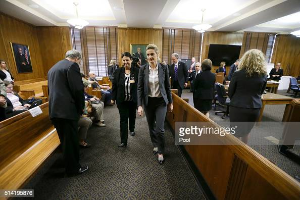 Sportscaster and television host Erin Andrews appear in court on March 4 in Nashville Tennessee Andrews is taking legal action against the operator...