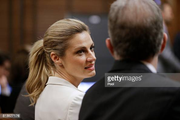 Sportscaster and television host Erin Andrews left talks with her attorney Randy Kinnard March 3 in Nashville Tennessee Andrews is taking legal...