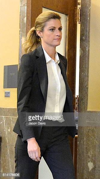 Sportscaster and television personality Erin Andrews walks to court on March 7 2016 in Nashville Tennessee Andrews is taking legal action against the...