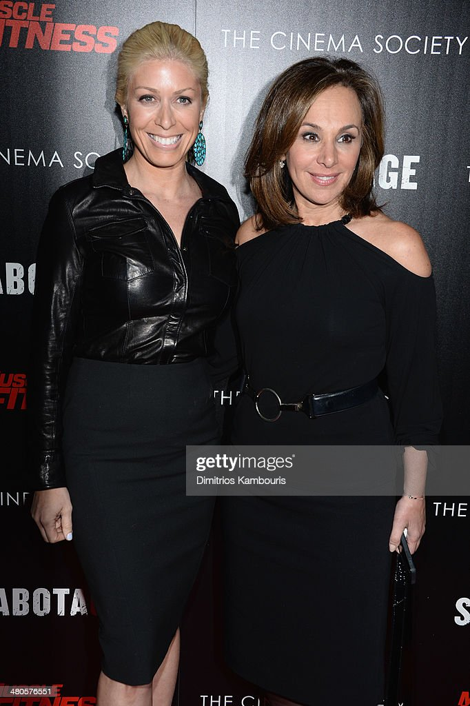 Sportscaster and TV personality Jill Martin and TV anchor Rosanna Scotto attend The Cinema Society with Muscle Fitness screening of Open Road Films'...